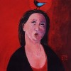 Woman whistling     sold