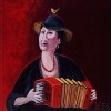 Woman with accordeon        sold